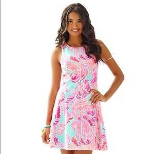 Lilly Pulitzer Cove Flare Dress Love Birds M